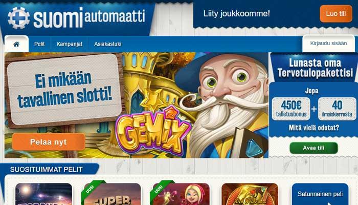 Suomiautomaatti netti kasino